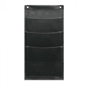 条件付き送料無料 日本製 SAKI(サキ) ウォールポケット マチ付 マガジン(3P) W-431 ブラック代引き・同梱不可  cloudnic