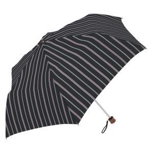 条件付き送料無料 マニッシュストライプ mini 折りたたみ傘 日傘 雨晴兼用 (UV CUT) 60cm MK615800 ブラック代引き・同梱不可 |cloudnic