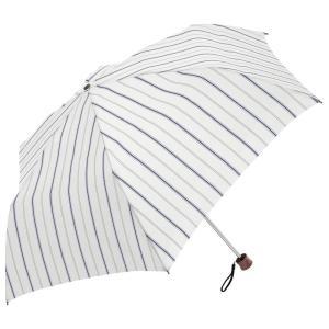 条件付き送料無料 マニッシュストライプ mini 折りたたみ傘 日傘 雨晴兼用 (UV CUT) 60cm MK615800 ホワイト代引き・同梱不可 |cloudnic
