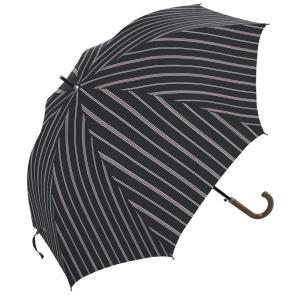 条件付き送料無料 マニッシュストライプ ジャンプ式 日傘 雨晴兼用 (UV CUT) 65cm MK615700 ブラック代引き・同梱不可 |cloudnic
