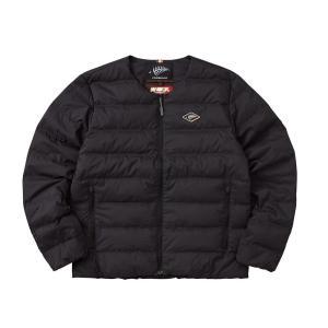 送料無料 FREE KNOT フリーノット FOURON ラウンドネックダウンジャケット ブラック(90) Lサイズ Y1133-L-90代引き・同梱不可 |cloudnic