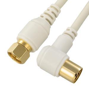条件付き送料無料 OHM TV接続ケーブル 2C 4K8K対応 F-L型 1m ANT-C1S2FL-W代引き・同梱不可 TV用 パーツ すっきり cloudnic