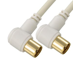条件付き送料無料 OHM TV接続ケーブル 2C 4K8K対応 L-L型 1m ANT-C1S2LL-W代引き・同梱不可 まとめる 収納 パーツ cloudnic