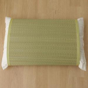条件付き送料無料 枕パッド 国産い草使用 『無地 枕パッド かため』 グリーン 約40×53cm 3...
