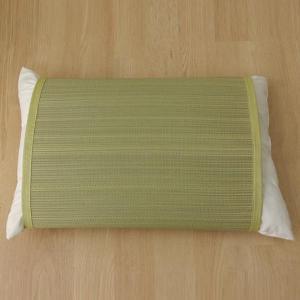条件付き送料無料 枕パッド 国産い草使用 『無地 枕パッド やわらかめ』 グリーン 約40×53cm...