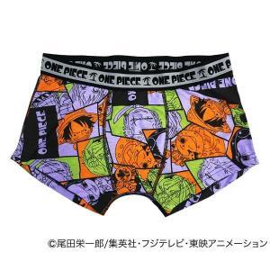 条件付き送料無料 ONE PIECE ボクサーパンツ コミック柄 14・オレンジ代引き・同梱不可 |cloudnic