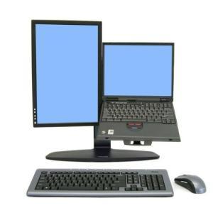 ノートブックPCをLCDディスプレイ、キーボード、マウスに接続するだけで、生産性の高いデュアルモニタ...