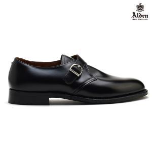 オールデン ALDEN MONK STRAP 955 モンクストラップ BLACK Dワイズ メンズ【送料無料】|cloudshoe
