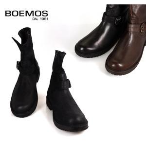 BOEMOS ボエモス l3-1068 メンズ エンジニアブーツ サイドジップ ブラックレザー 本革 イタリア製|cloudshoe