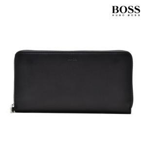ヒューゴボス HUGOBOSS 50402703 001  Wallet  BLACK ラウンドファスナー長財布 ロングウォレット ブラック 黒 メンズ|cloudshoe