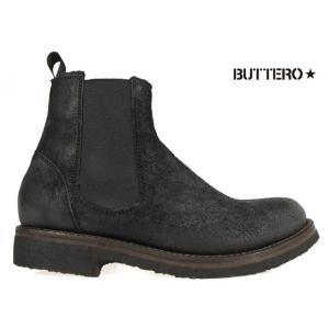 ブッテロ BUTTERO B4392 ALCIONE NERO EQU CARF LEATHER B4392 ブラック カーフレザー|cloudshoe