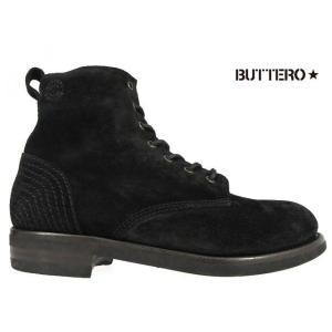 ブッテロ BUTTERO B4421 T-BORN NERO B4421 T−BORN ブラック スウェードレザー|cloudshoe