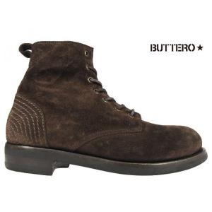 ブッテロ BUTTERO B4421 T-BORN TDM B4421 ダークブラウン スウェードレザー|cloudshoe