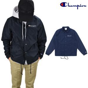 チャンピオン Champion Classic Coaches Jacket V4504 BLACK NAVY クラシック コーチ ジャケット ナイロン 黒 紺色 メンズ|cloudshoe