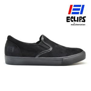 【ポイント15倍】エクリプス ECLIPS 42009 ブラック スエード スリッポン カジュアル スニーカー メンズ|cloudshoe