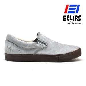 【ポイント15倍】エクリプス ECLIPS 42009 グレー スリッポン スエード カジュアル スニーカー メンズ|cloudshoe