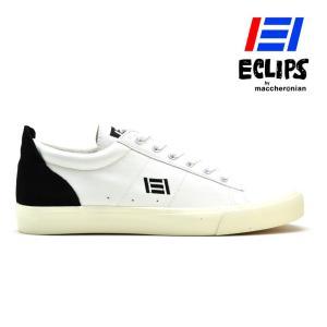 【ポイント15倍】エクリプス ECLIPS 42010 ホワイト ブラック ローカット カジュアル スニーカー レディース メンズ|cloudshoe