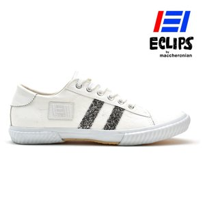 【ポイント15倍】エクリプス ECLIPS 42013 ホワイト シルバー ローカット カジュアル スニーカー レディース|cloudshoe