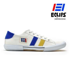 【ポイント15倍】エクリプス 42013 ECLIPS ホワイト イエロー ブルー 白 黄 青 カジュアル スニーカー メンズ|cloudshoe