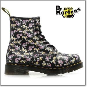 ドクターマーチン Dr.MARTENS 1460W 8EYE BOOTS11821010 r11821010  BLACK&MINITYDEE 8アイ ブーツ レディースサイズ|cloudshoe
