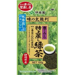 伊藤園 伊藤園 味の太鼓判 特上蒸し緑茶 金 100g