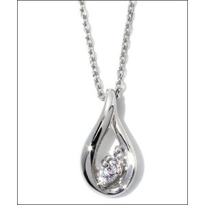 4℃ ヨンドシー 正規品 4℃ ヨンドシー プラチナ ダイヤモンド しずく ネックレス|clover-leaf