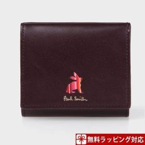 ポールスミス 財布 レディース 折財布 マーケトリーストライプラビット 2つ折り財布 バーガンディー Paul Smith clover-leaf