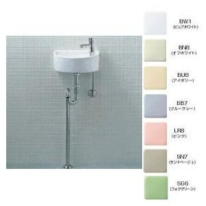 INAX 【AWL-33(S)-S】狭小手洗シリーズ(丸形)Sトラップ[床排水・床給水]