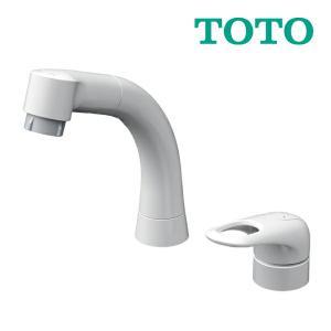 《あすつく》◆15時迄出荷OK!TOTO 水栓金具【TLS05301J】台付シングル混合水栓 スパウ...