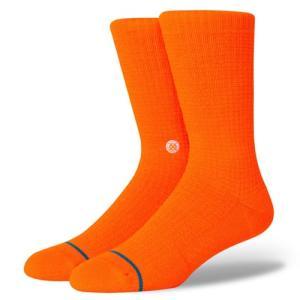 正規品●STANCE スタンス●ソックス 靴下 ●Hyper Crew NeonOrange●L(25.5〜29cm)●送料無料|cloversurf