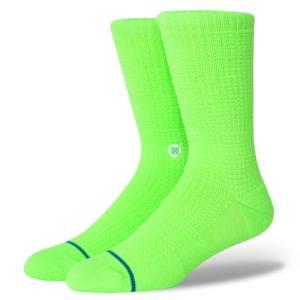 正規品●STANCE スタンス●ソックス 靴下 ●Hyper Crew NeonGreen●L(25.5〜29cm)●送料無料|cloversurf