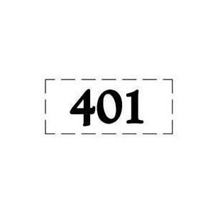 ファスカルシールD型 BK(黒文字) No.401〜415|clubestashop