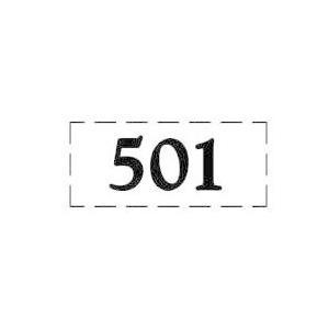 ファスカルシールD型 BK(黒文字) No.501〜515|clubestashop