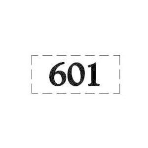 ファスカルシールD型 BK(黒文字) No.601〜615|clubestashop