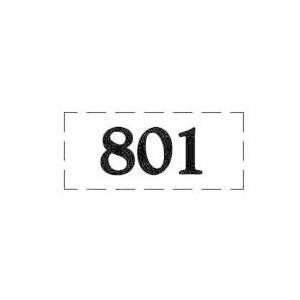 ファスカルシールD型 BK(黒文字) No.801〜815|clubestashop