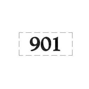 ファスカルシールD型 BK(黒文字) No.901〜915|clubestashop