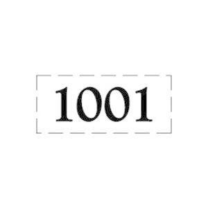 ファスカルシールD型 BK(黒文字) No.1001〜1015|clubestashop