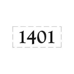 ファスカルシールD型 BK(黒文字) No.1401〜1415 clubestashop