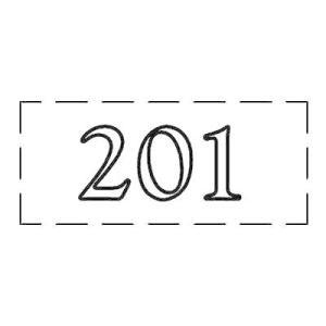 ファスカルシールD型 WH(白文字) No.201〜209 clubestashop