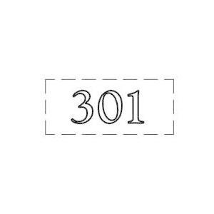 ファスカルシールD型 WH(白文字) No.301〜309 clubestashop
