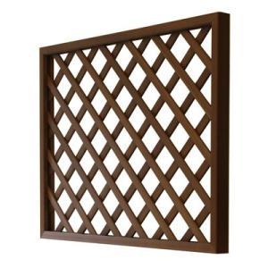 PATIO PETITE(パティオプティ) ラティス 軽量再生木材フェンス 90×150cm ブラウン/サンディ/ダークグレー|clubestashop
