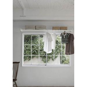 森田アルミ工業 多目的シェルフ WALLY(ウォーリー) 1910 室内物干し 窓枠 壁付け 部屋干し 物干し 屋内 壁掛け棚 壁面収納棚 室内干し|clubestashop