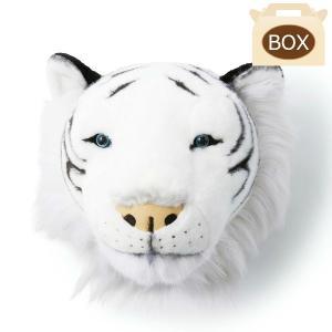 WILD&SOFT(ワイルドアンドソフト) アニマルヘッド ホワイトタイガー 専用ボックス入り BIBIB&Co(ビビブアンドコー) Animal Head|clubestashop