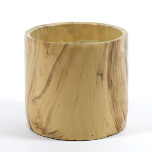 SERAX(セラックス) ウッドルックセメントポット ミディアム 鉢底穴なし 4.5号鉢サイズ 鉢カバー|clubestashop