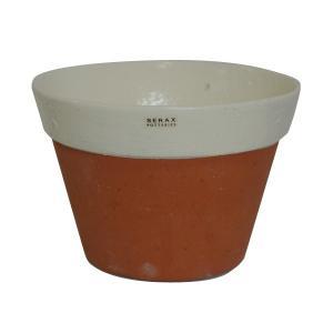 SERAX(セラックス) コニカルポット テラコッタ ホワイトペイント 鉢底穴あり 6号鉢サイズ 鉢カバー|clubestashop