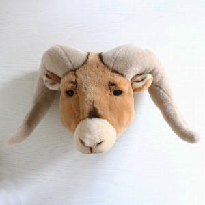 WILD&SOFT(ワイルドアンドソフト) Animal Head アニマルヘッド オオツノヒツジ BB28 BIBIB&Co(ビビブアンドコー)|clubestashop