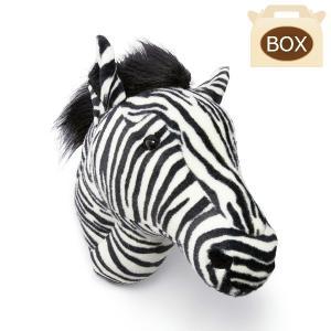 WILD&SOFT(ワイルドアンドソフト) アニマルヘッド シマウマ BB37 専用ボックス入り BIBIB&Co(ビビブアンドコー) Animal Head|clubestashop