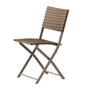 PATIO PETITE(パティオプティ) SAHARA サハラ・チェア 折りたたみ式椅子 屋外用家具 ガーデンチェア 人工ラタン ガーデンチェアー 折りたたみ椅子 折りたたみ|clubestashop
