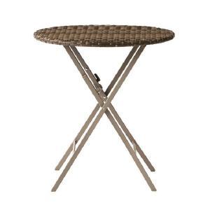 PATIO PETITE(パティオプティ) SAHARA サハラ・テーブル 折りたたみ式丸テーブル 屋外用家具 ガーデンテーブル 折りたたみ テーブル アウトドア おしゃれ|clubestashop