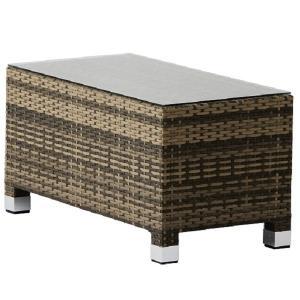 PATIO PETITE(パティオプティ) SAHARA サハラ・ローテーブル 屋外用家具 ガーデンテーブル テーブル 人工ラタン アウトドア ガラス天板 おしゃれ ガーデン|clubestashop
